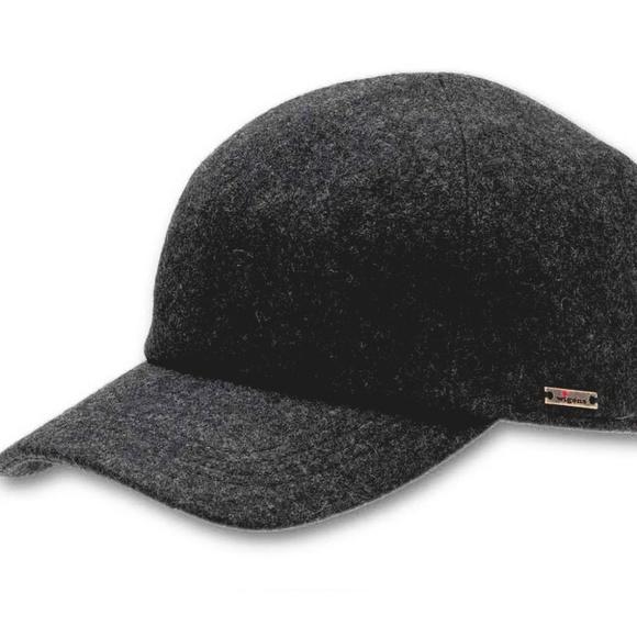 Wigens Kent Wool Gray Earflap Baseball Cap 2a675e8b9d7